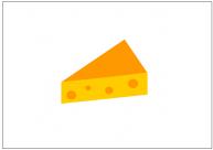 チーズのフリー素材テンプレート・図形・イラスト