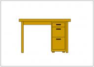 机(デスク)のフリー素材テンプレート・図形・イラスト