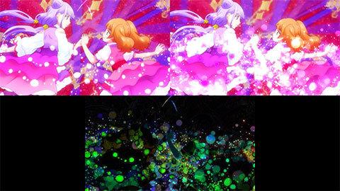 【HUGっと!プリキュア】キュアマシェリ・キュアアムール変身比較[第20話・第21話]02