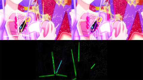 【HUGっと!プリキュア】キュアマシェリ・キュアアムール変身比較[第20話・第21話]01