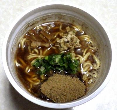 7/23発売 MEGAニボ ど煮干し中華そば(2018年)(できあがり)