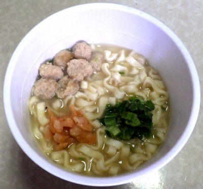 6/4発売 二〇加屋長介 鶏白湯うどん(できあがり)