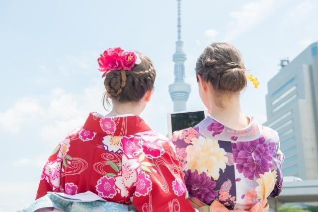 レディースファッション 2018夏 浴衣 流行