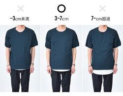 メンズファッション ロング丈Tシャツ 重ね着 レイヤード