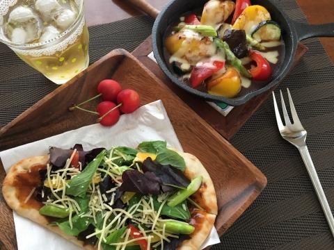 夏野菜焼きカレー&カレーナン