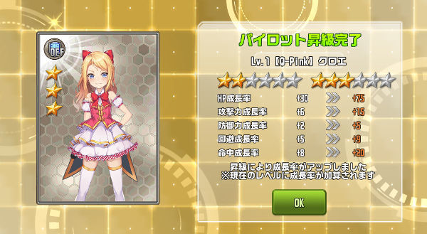 Qpinkクロエ☆3昇級02