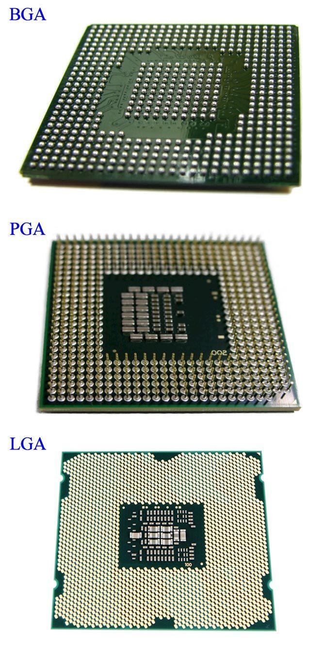 CPU-BGA-PGA-LGA