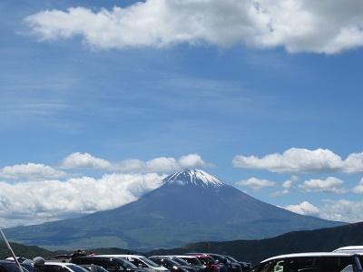 大湧谷からの富士山
