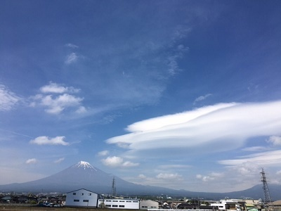 富士山と雲1