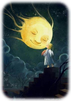 満月と天使ちゃん