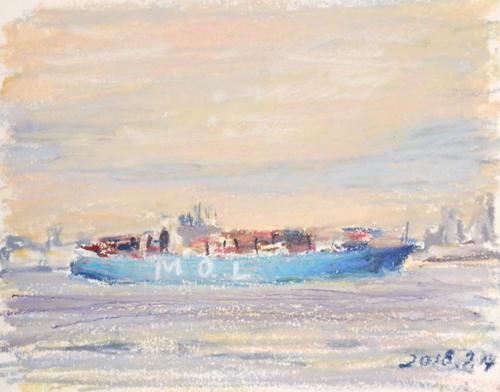 東京湾をゆく船-45