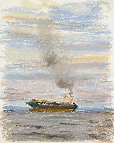 東京湾をゆく船-38
