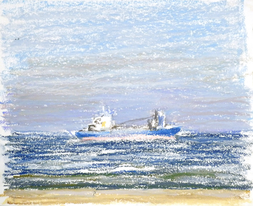京湾をゆく船-42