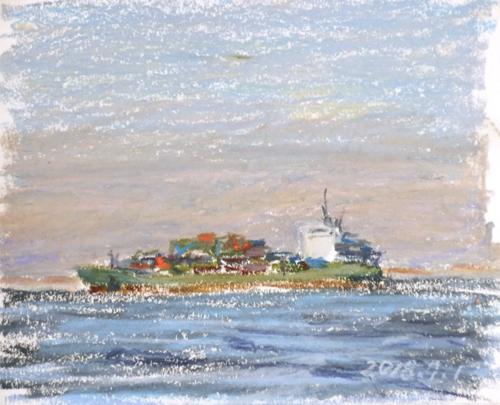 東京湾をゆく船-44