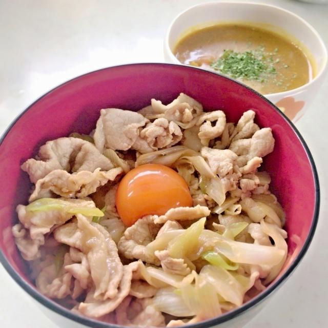 スタ丼インスパ カレースープ