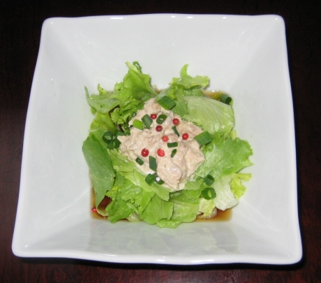 ツナとレタスのサラダ饂飩