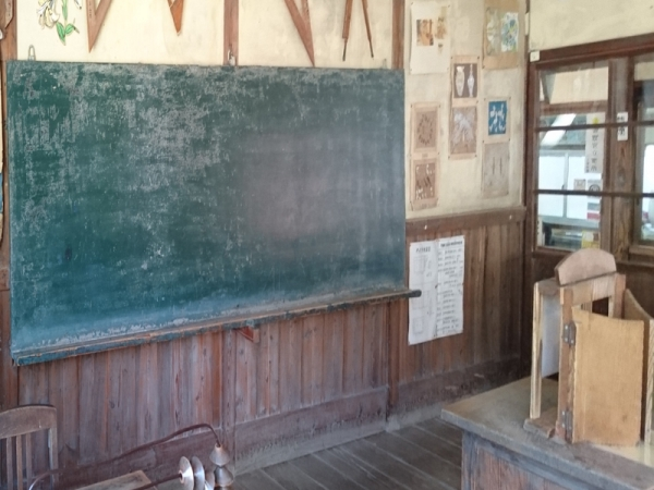 二十四の瞳映画村の黒板
