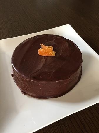 オレンジ風味のチョコレートケーキ