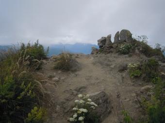 新潟県側雨飾り山山頂180728