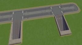Underground highway exit