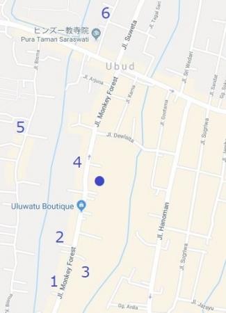 ウブド町スパ地図