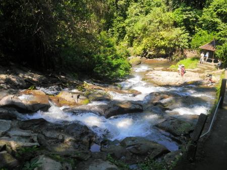 反対側の渓流
