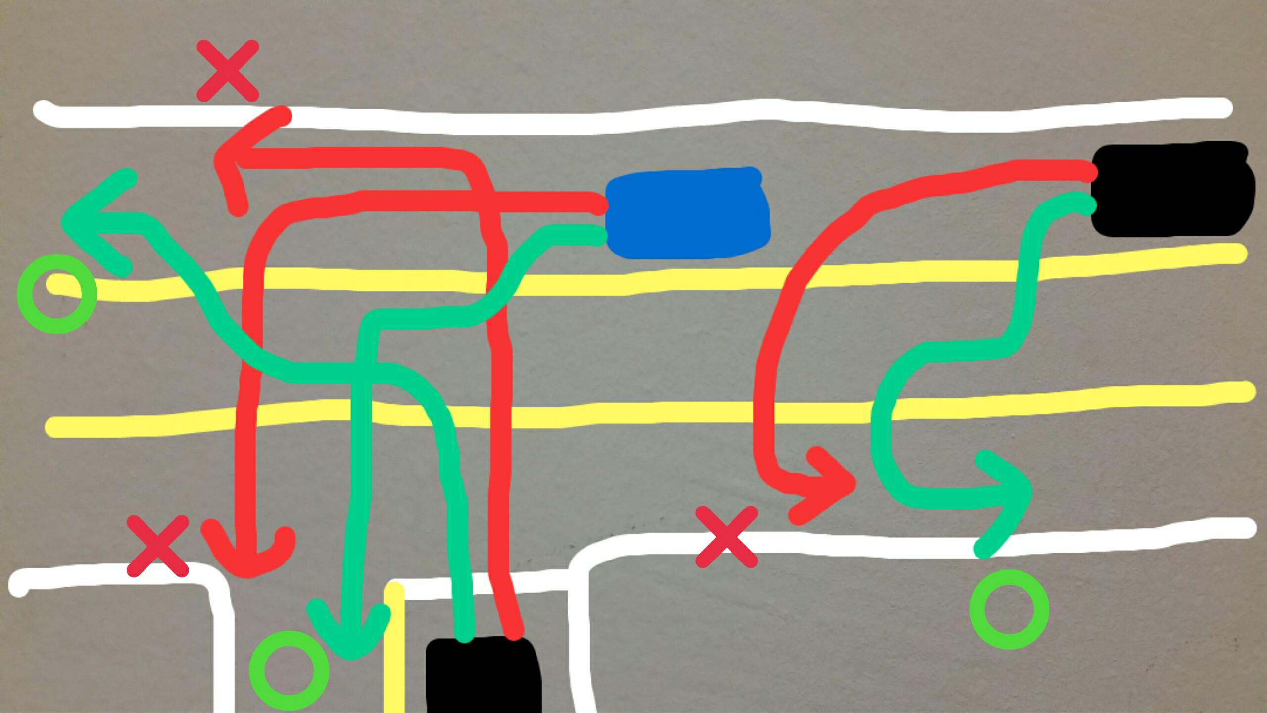 アメリカ グアム 中央車線 センターレーン ルール 使い方