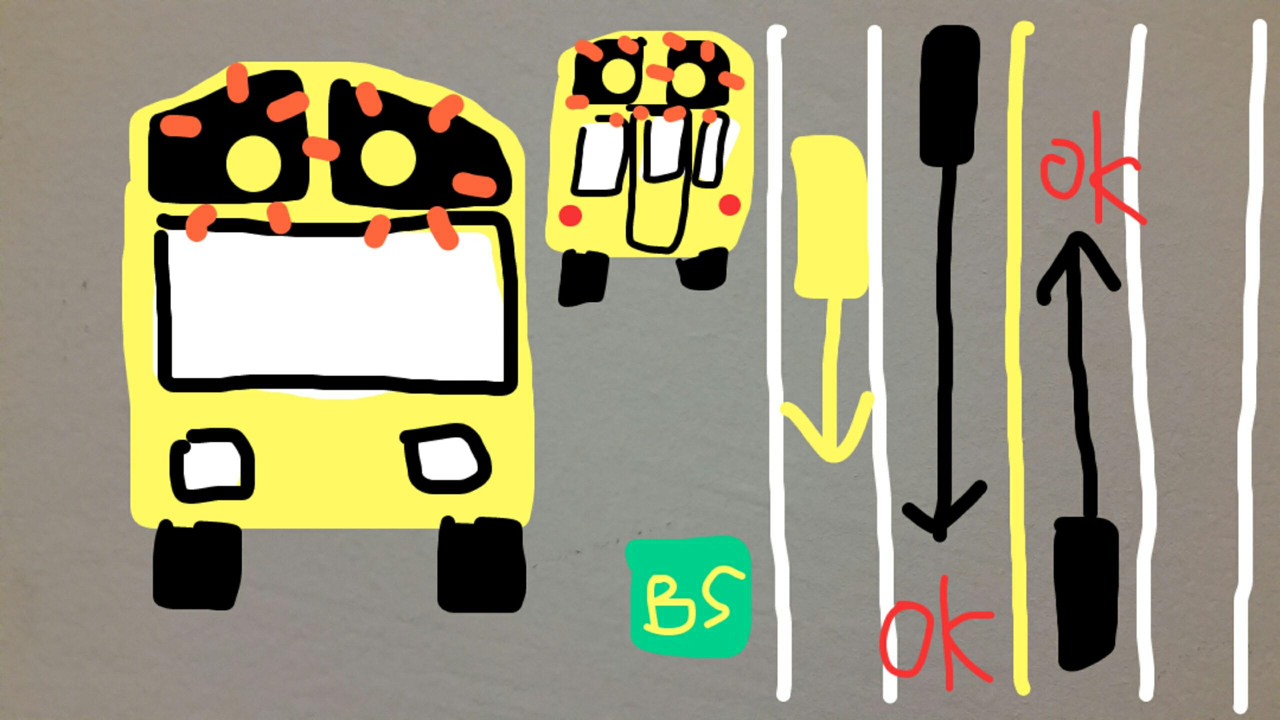 アメリカ グアム スクールバス 黄色ライト 解説