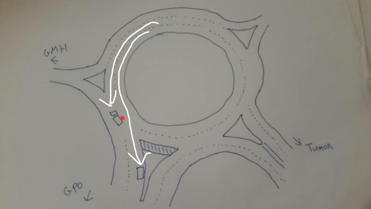 グアム交通事故現場図