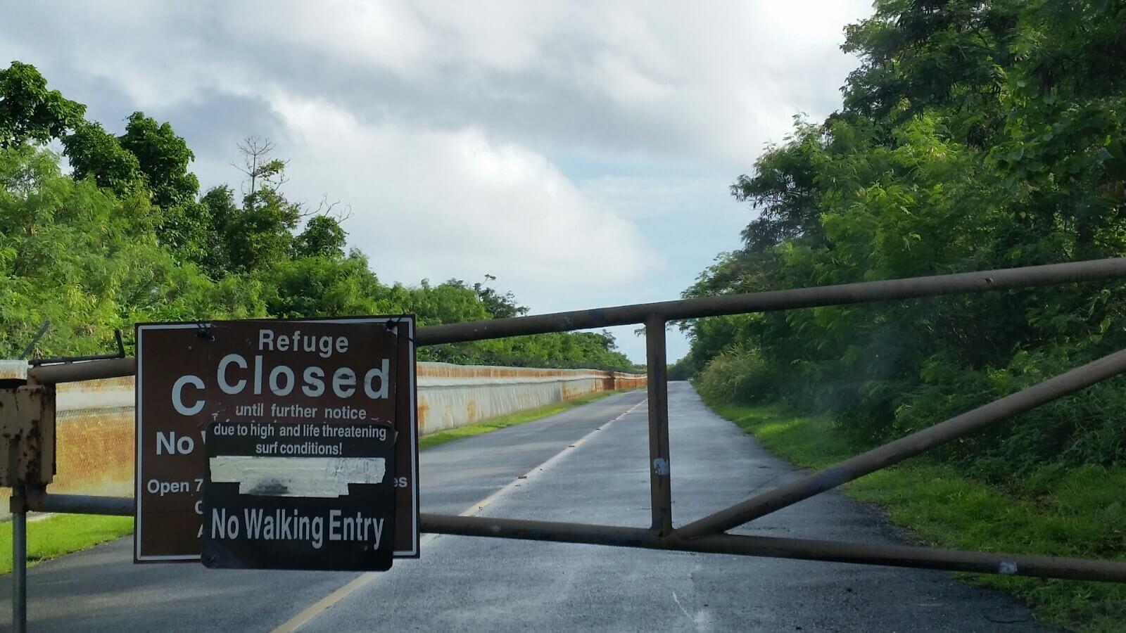グアムリティディアンビーチ閉鎖中ゲート