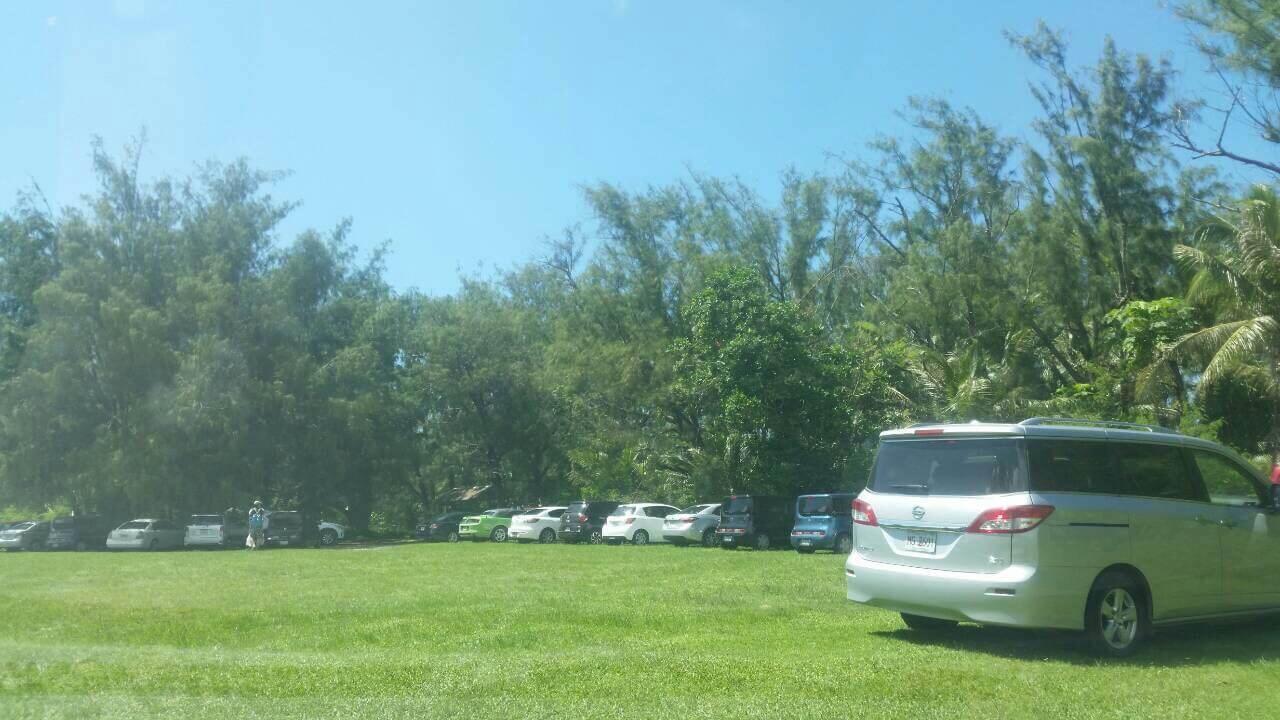 グアムリティディアンビーチ駐車場
