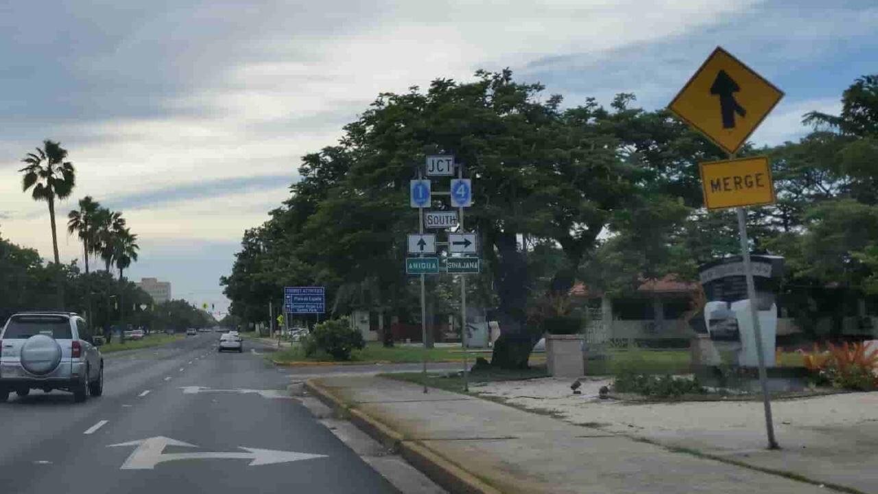 アメリカ グアム 標識 Merge