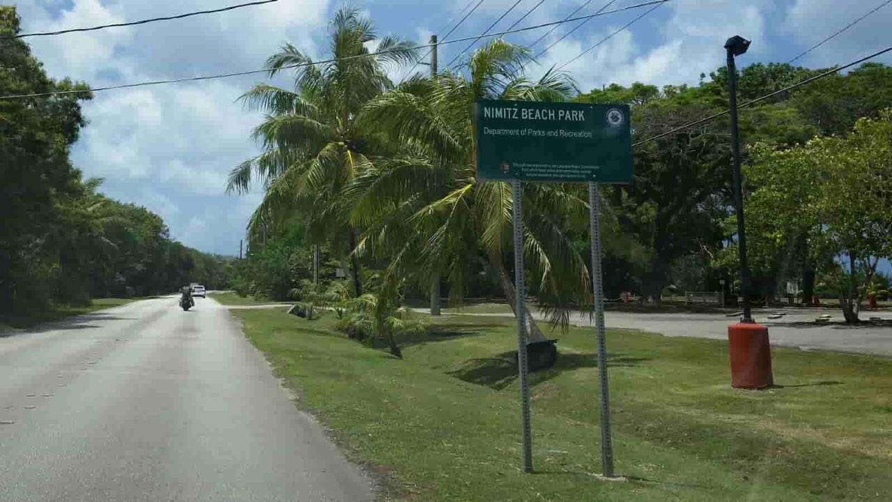 アメリカ グアム 標識 Tourist Spot