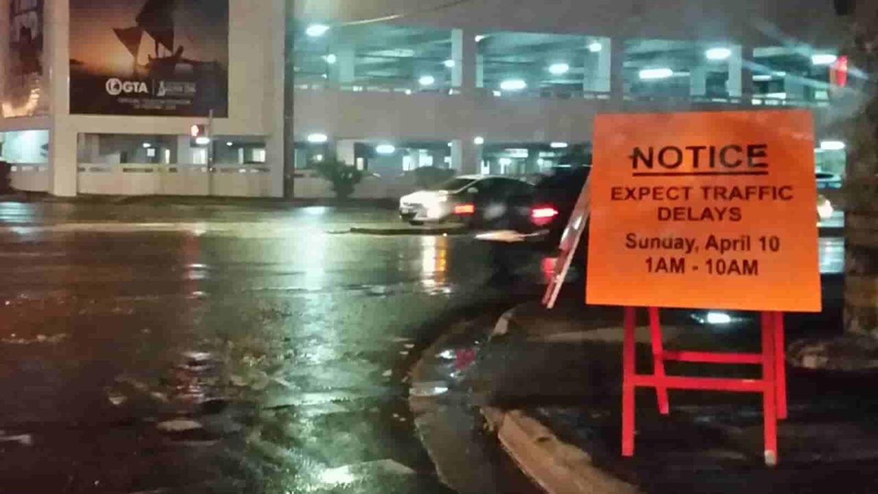 アメリカ グアム 標識 Expect Traffic Delays