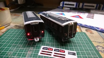 座席をたためる電車、阪急8200系をプラレールで作ろう!その2