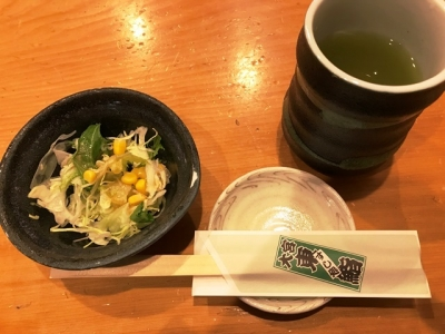180313東鮨新店ランチのサラダ