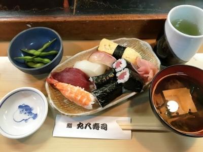 180319丸八寿司駅前店ランチ並寿司620円