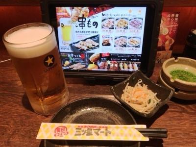 180417三ツ星マート 浜松駅南店BIG生ビール480円お通しはもやし280円
