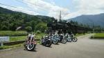 大井川鐵道のSLとバイクたち