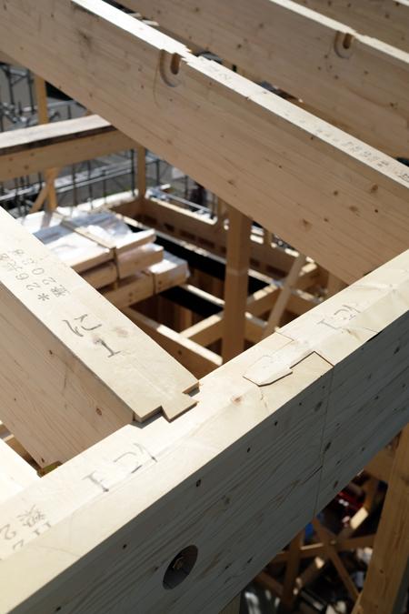 江別の家 建方17