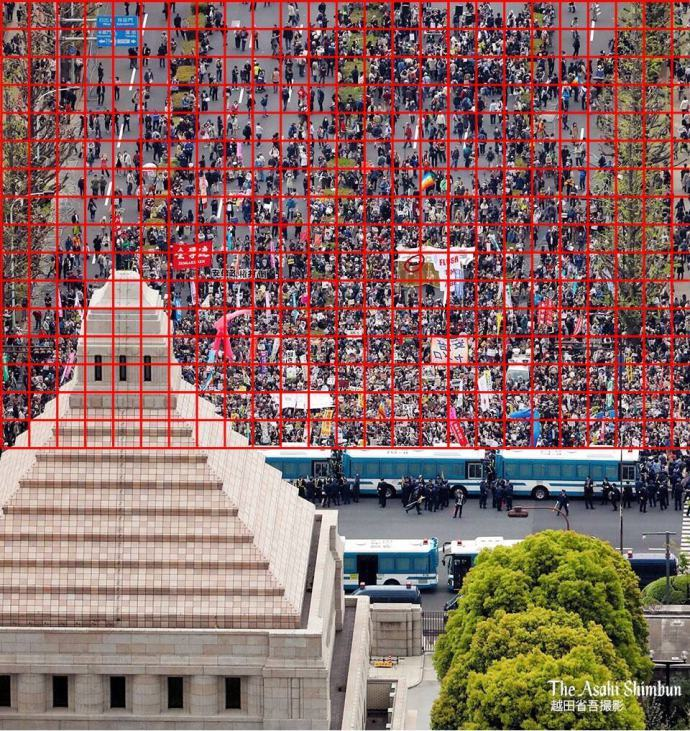 パヨチンが5万人と称する国会前デモは3400人1