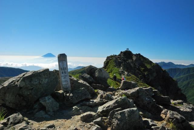 塩見岳_西峰