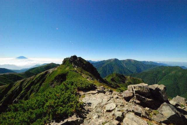 塩見岳_稜線