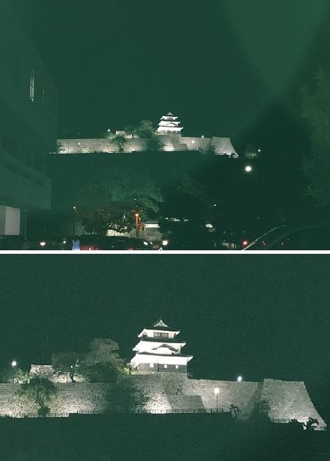 20180428夜の丸亀城
