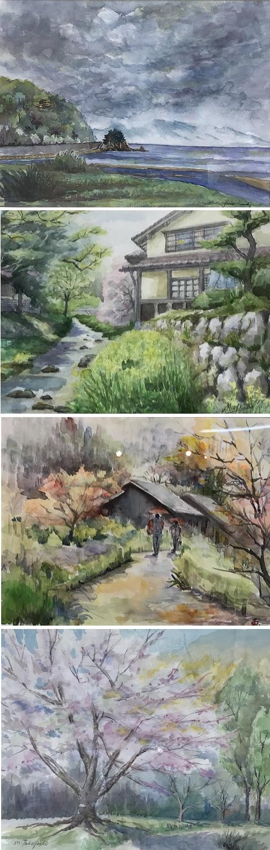 20180608四国新聞文化教室水彩画 2
