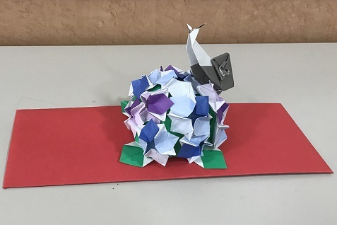 20180617アジサイとカタツムリ
