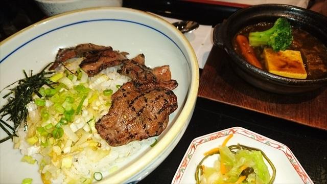 ねぎ塩牛たん丼とたんシチュー定食