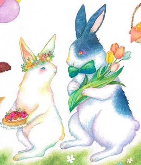 ウサギ夫婦