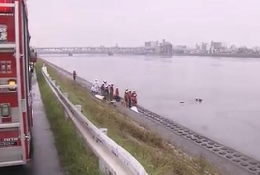 太田川放水路転落