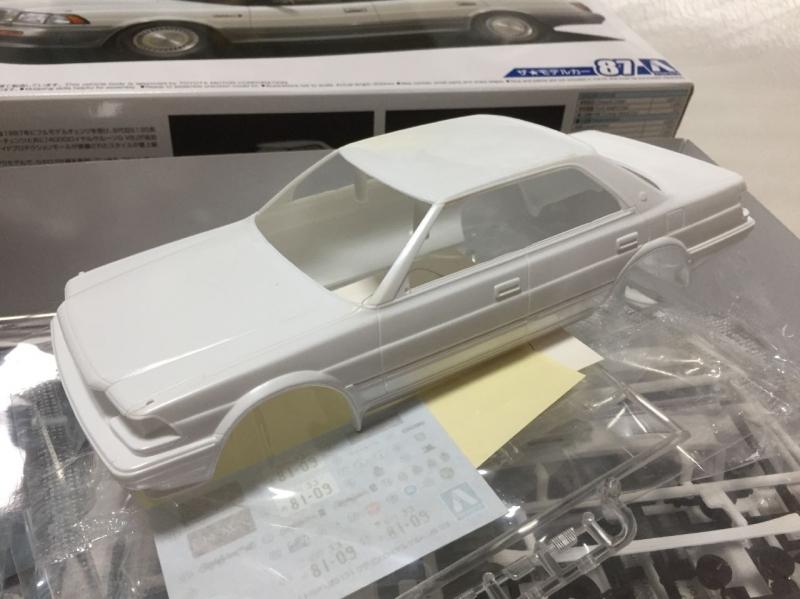 アオシマ モデルカー 130 クラウン V8